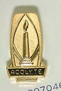 Gold Acolyte Pin with Lighted Candle