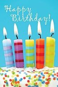 Birthday Candles & Cake Postcard (Pkg of 25)