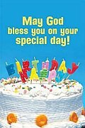 Happy Birthday Cake with Candles Postcard (Pkg of 25)