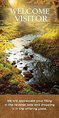 Welcome Visitor To Our Church Fall Stream Card (Pkg of 25)