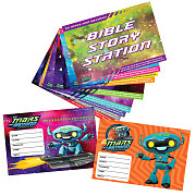 Vacation Bible School (VBS) 2019 To Mars and Beyond Activity Center Signs & Publicity Pak