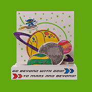 Vacation Bible School (VBS) 2019 To Mars and Beyond 3D Planet Scene Craft Kit (Pkg of 12)