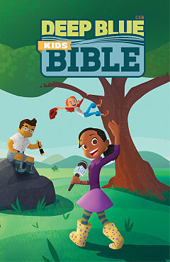 CEB Deep Blue Kids Bible Wilderness Trail Hardcover