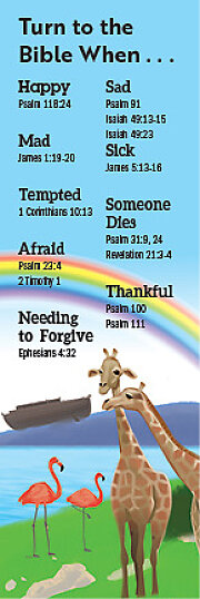 Bible Story Basics Turn to the Bible When Bookmark (Pkg of 25)