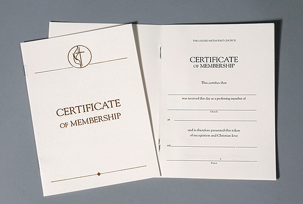 United Methodist Certificates Of Membership Without Service Pkg 3